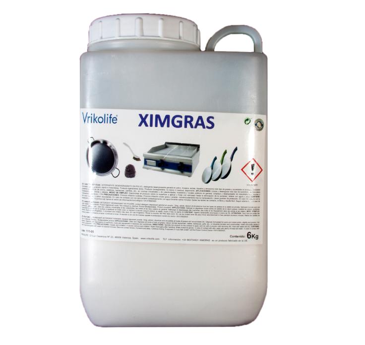 Sanie est le gel nettoyant et desinfectant Ximgras dégraissant en poudre